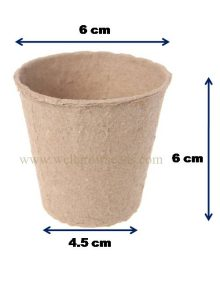 Biodegradable Pulp Pots Dimension